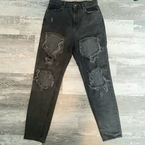 BDG Urban Outfitters Black High Rise Mom Jeans